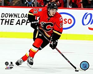 "Johnny Gaudreau Calgary Flames NHL Action Photo (Size: 8"" x 10"")"