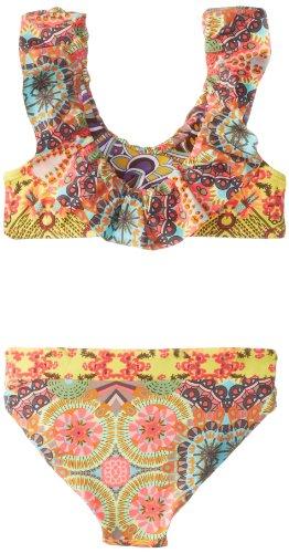Maaji Big Girls'  Ruffles Reef Bikini Set, Multi, 10