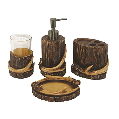 Genial Amazon.com: 4 PC Antler Bath Set   Tumbler, Soap Dispenser, Toothbrush  Holder U0026 Soap Dish: Home U0026 Kitchen