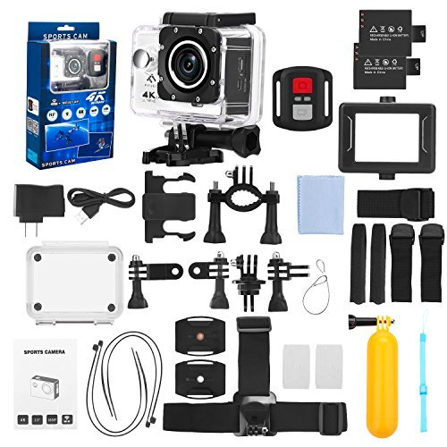 FINEC F60R Waterproof Sports Action Camera 4K 16 MP Ultra HD WIFI 170 Degree Angle Underwater Camcorder With 2.0Inch LCD Screen And Full Accessories Kits by FINEC