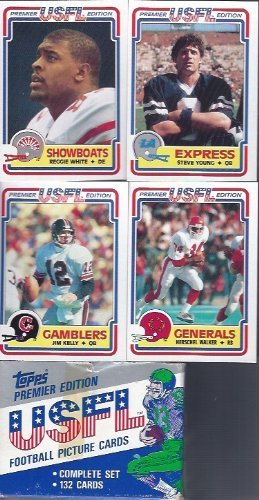 1984 Topps Usfl Football Factory Set 132 Cards Includes Rookie Cards of Jim Kelly, Reggie White, Steve Young Hershel Walker and Many - Jim And Steves