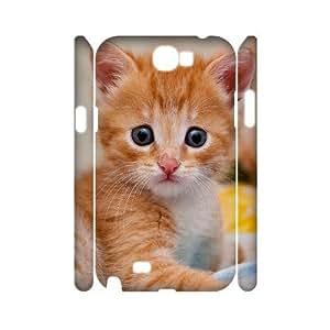 YananC(TM) YnaC210112 DIY 3D Cover Case for Samsung Galaxy Note 2 N7100 w/ Cute Kitten Cat