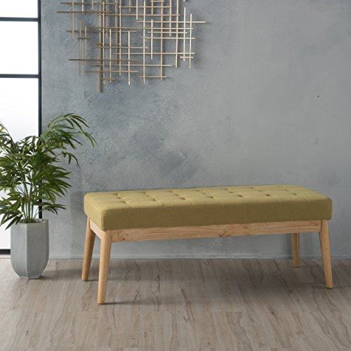 Christopher Knight Home 300216 Living Anglo Olive Green Fabric Bench, Bright