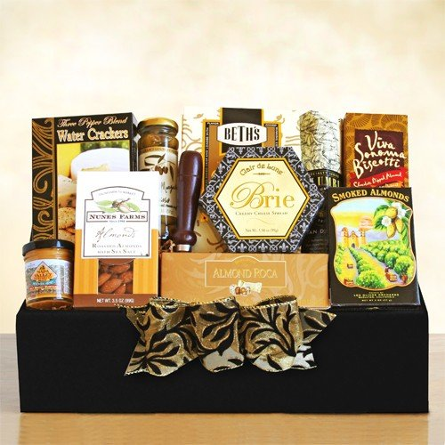 Thank You Gift Basket | Meat, Cheese, Crackers, Olives, Nuts and Cookies