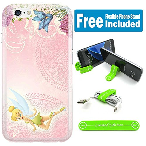 [Ashely Cases] Apple iPhone 8 Plus / iPhone 7 Plus Cover Case Skin with Flexible Phone Stand - Tinkerbell Pink Horiz