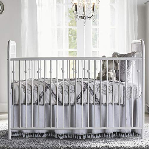 Crib Skirt Grey Dust