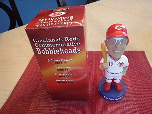 (CHRIS SABO (Rare 2002 Cincinnati Reds) Baseball Bobblehead)