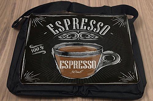 Umhänge Schulter Tasche Kaffee Espresso bedruckt