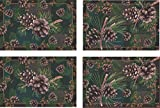 River's Edge 4 Piece Pinecones Placemat Set