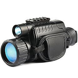 WSHA Night Vision Monocular Infrared HD Digital Scope 5X40mm For Hunting Telescope Video Recording Camera Telescope Or Watching Bird, Football Game