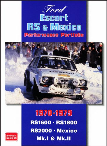 1974 1975 1976 1977 Car - Ford Escort RS & Mexico Performance Portfolio 1970-1979