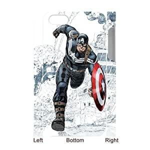 Captain America Cheap Custom 3D Cell Phone Case Cover for iPhone 4,4S, Captain America iPhone 4,4S 3D Case