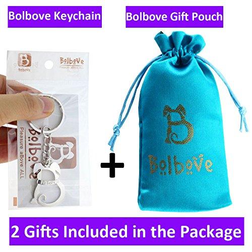 Bolbove Cute Big Ladybug Keychain Sparkling Keyring Rhinestones Purse Pendant Handbag Charm (Blue) Photo #3