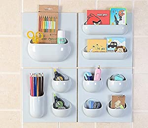 Wall Sticker/Multifunctional Wall Organizer,Easy to Install,Pockets and Holders For Small Items,Your Choice of Combination,4 Different Styles,For Home,Office,Kitchen,Bathroom,Car and RV.