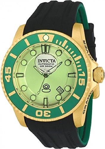 Invicta 22992 Men's 47mm Grand Diver Gen II Liquid Green Dial Automatic Black Silicone Strap (Dial Black Silicone)
