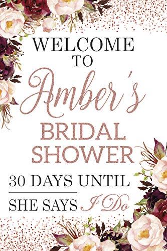 Bridal Shower Sign - Rose Gold Bridal Shower Sign, Floral