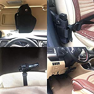 DMAIP Concealed Carry Holster IWB OWB Car Holster with Magazine Slot and 2 Strap Mounts for Right and Left Hand Gun Accessories