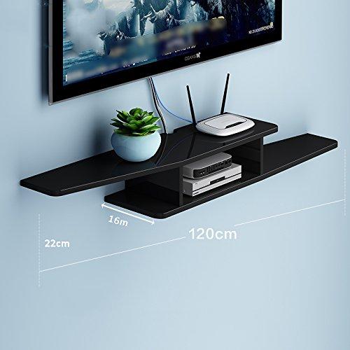 LIANGJUN 壁掛け棚 木製 リビングルーム 背景壁、 使用可能な9種類 ( 色 : 120cm-black-2# ) B07BHNVGC1 22630 120cm-black-2# 120cmblack2#