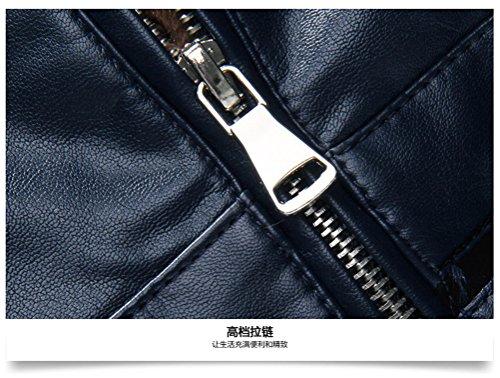 Bleu Pu Ws668 Cuir Stand Collar Homme Manteaux Haute Gros Parka 5TR6OSRwq