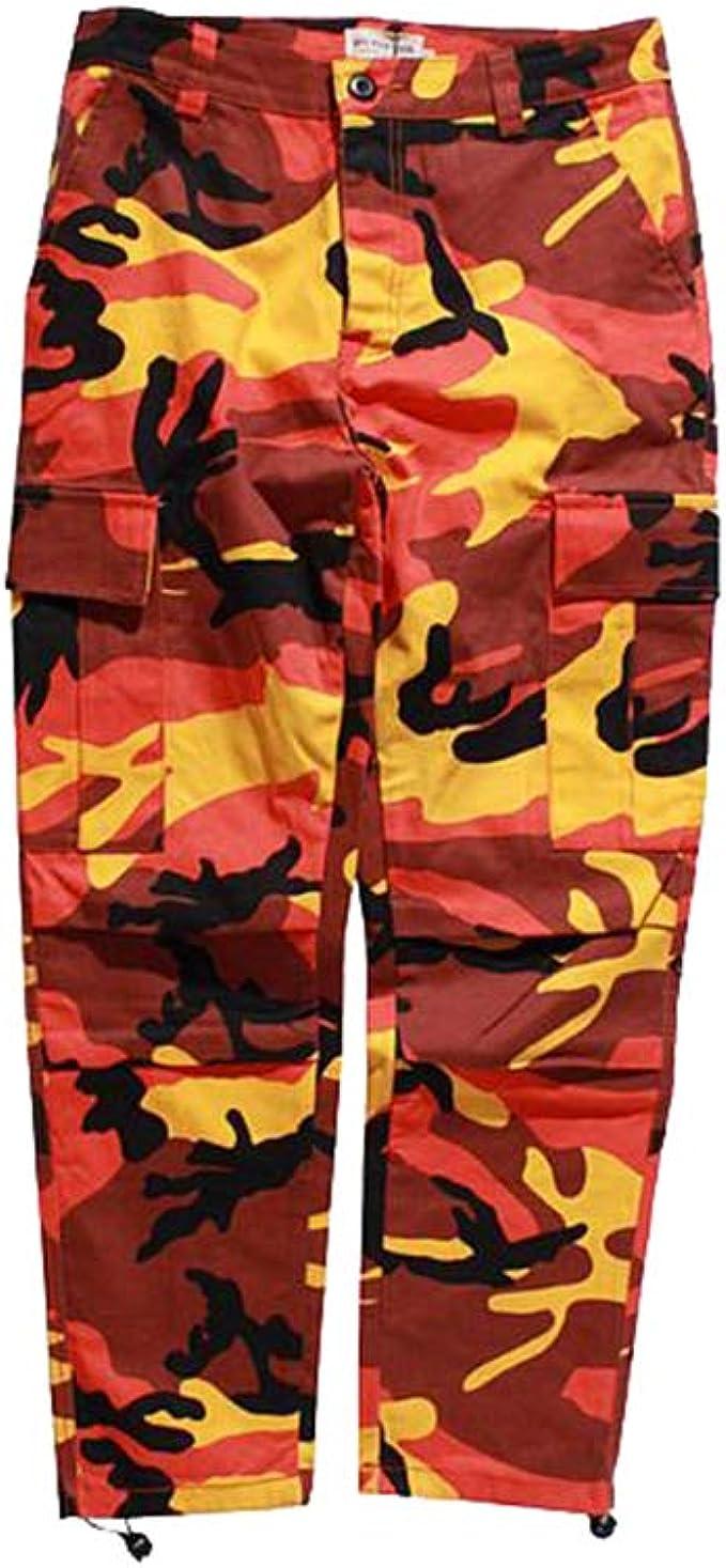 Mxssi Color Camo BDU Pantalones de Camuflaje Cargo Hombres ...