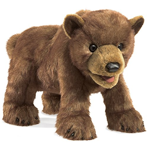 Bear Plush Hand Puppet - Folkmanis Bear Cub Hand Puppet Plush, Brown