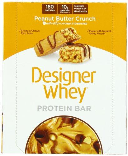 Suivant protéines Designer Bars Whey Protein, Peanut Butter Crunch, 40 grammes, 12 Count