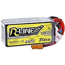 Tattu R-Line LiPo Battery Pack 1300mAh 14.8V 95C 4S with XT60 Plug for FPV Racing
