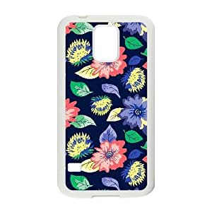 Samsung Galaxy S5 Case,[Generic] Cell Phone Case for Samsung Galaxy S5 [White] Daisy Flower OH2454