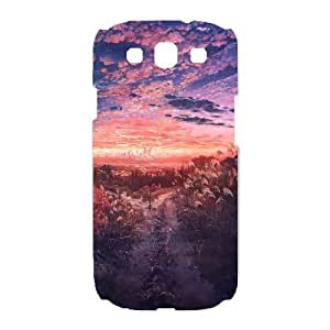 HD exquisite image for Samsung Galaxy S3 Cell Phone Case White anime field at dusk MIO5031511