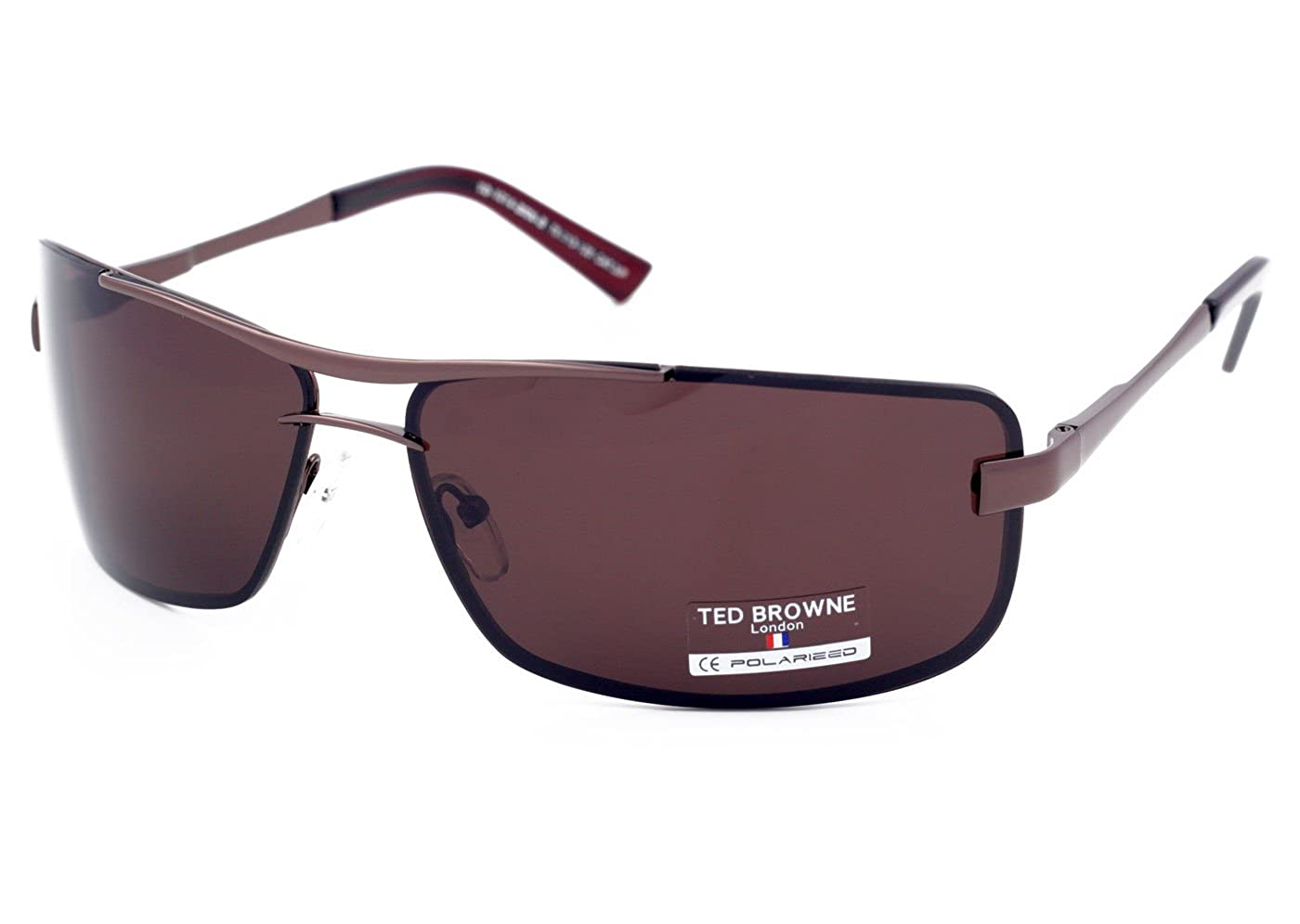 7afd06e3900 TED BROWNE London Polarised Sunglasses for Man Car Driving Cycling Fishing  Sport Big Face EyeWear Large Size Stop Glare Light Brown Lenses