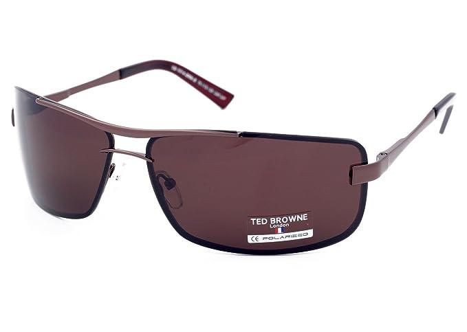 6ca866fc5204dd TED BROWNE London Lunettes de soleil polarisées pour Homme Voiture Conduite  Cyclisme Pêche Sport Grand Visage