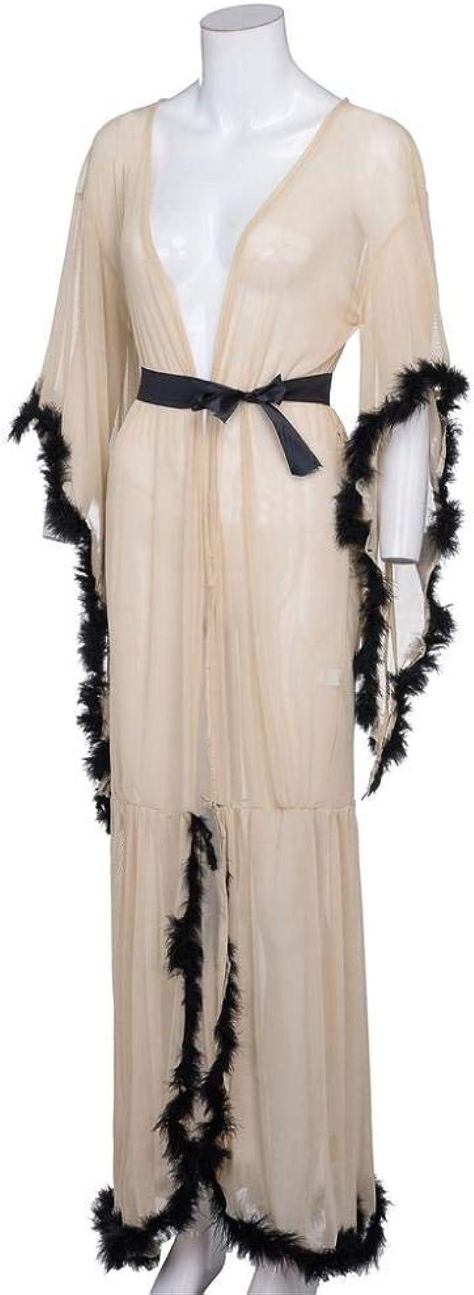 VJGOAL Mujeres Casual camisón Largo lencería camisón Ropa de Dormir Sexy tentación Transparente Bata Ropa Interior erótica(Un tamaño,Blanco): Amazon.es: Ropa y accesorios