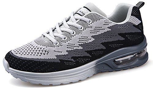 Men's Women's Casual Sports Shoes Athletic Breathable Fashion Running Sneakers By JiYe,Light gray,9.5US-Women/8US-Men