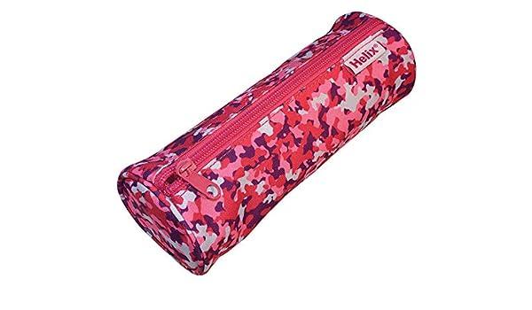 Helix Oxford - Estuche para lápices, diseño de camuflaje, color rosa: Amazon.es: Oficina y papelería