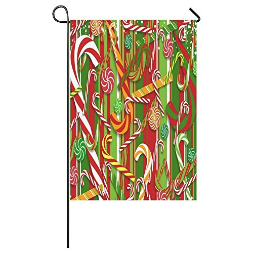 QQshiqI Merry Christmas Candy Canes Pattern Outdoor Summer H