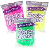 Super Bright Platinum Edition Easter Basket Grass - Set of 3 Bags - Pink, Yellow, and Green