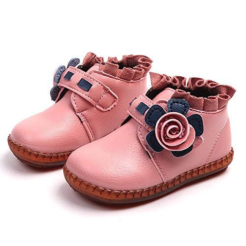 slip Doux Garons Bottes Chaud Shoes Sneaker Plotbb Anti Floral Enfants Martin Pink Casual Filles CpYwtx6q
