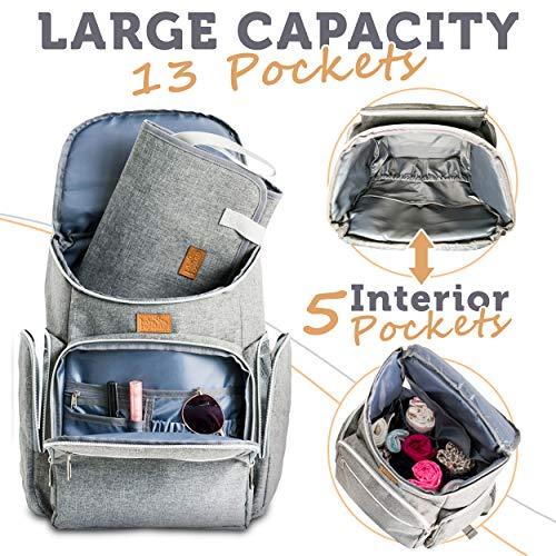 c0c347dec2 Baby Republic Diaper Bag Backpack - Baby Bag for Mom Girls Boys and Dad -  Diaper