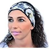 Workout Headbands - Women, Men Multifunctional Yoga Sports Running Hiking Nonslip Not Tight Moisture Wicking Absorbent Super Soft Lightweight Fashion Design Fabric Headwear Original Reversible, Pouch