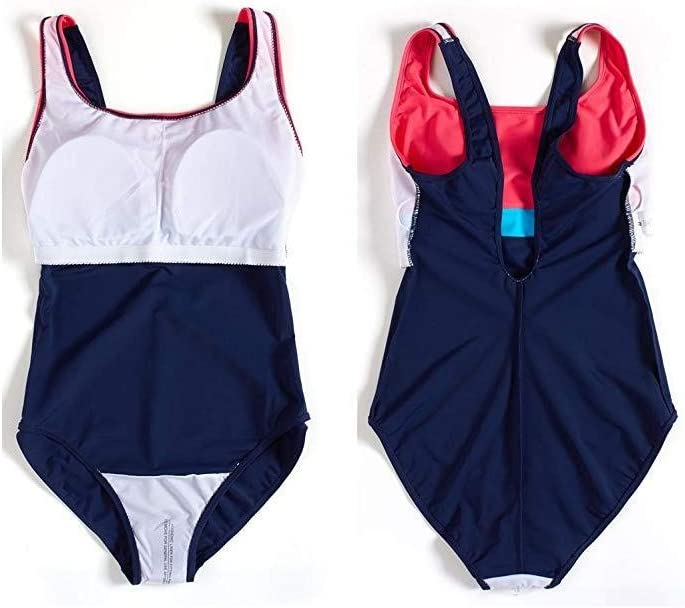 MICHAELA BLAKE Swimming Supplies Womens Colorblock Swimming Costumes Athletic Bathing Suit Chlorine Resistant Competition Swimsuits for Outdoor//Indoor Sports