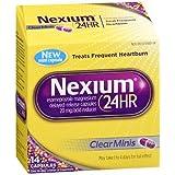 Nexium 24HR Capsules Clear Minis - 14 ct, Pack of 5