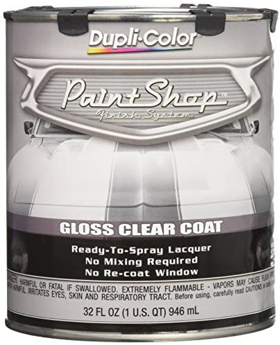 Dupli-Color EBSP30000 Clear Coat Paint Shop Finish System – 32 oz., Clear Gloss