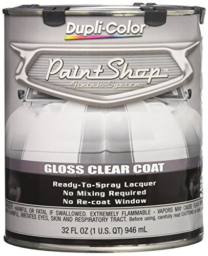 Urethane Base Coat Car Auto - Dupli-Color EBSP30000 Clear Coat Paint Shop Finish System - 32 oz., Clear Gloss
