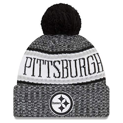 物足りないかもめ交じるニューエラ (New Era) NFL サイドライン 2018 ボブル ビーニー帽 ピッツバーグ?スティーラーズ (Pittsburgh Steelers)