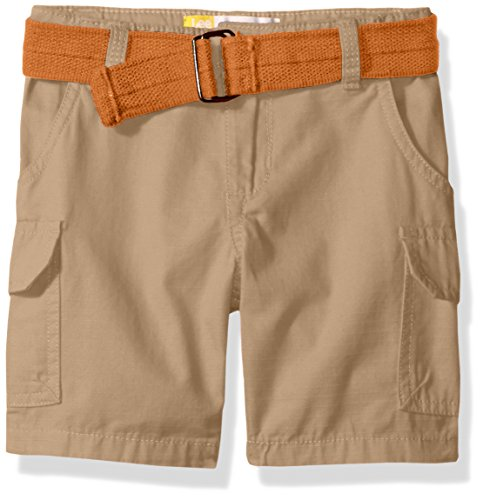 LEE Boys' Belted Ripstop Cargo Short, Khaki, 12M
