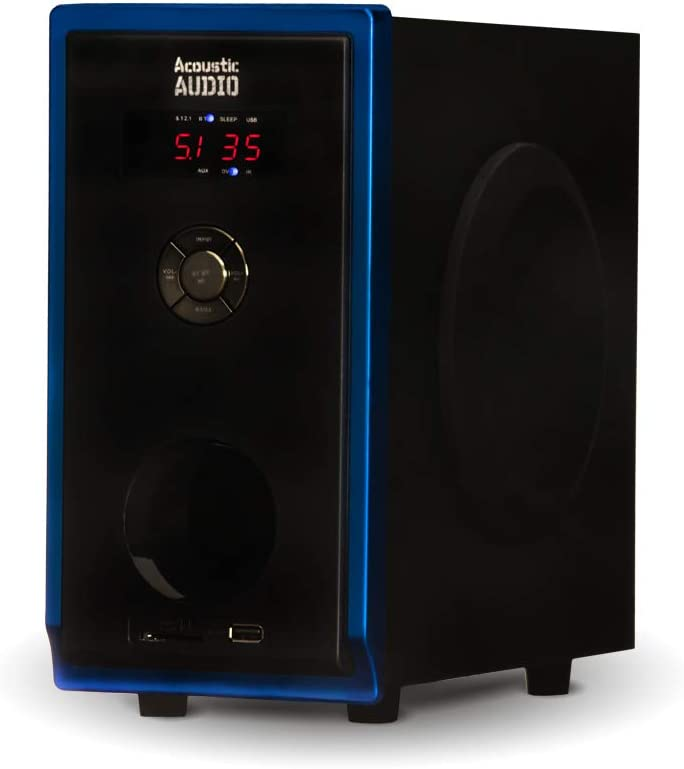 Acoustic Audio AA5102 Bluetooth 5.1 Speaker System with 4 Extension Cables Home Theater