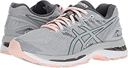 Asics Women's Gel-nimbus 20 Running Shoe, Mid Greymid Greyseashell Pink, 9 Medium Us