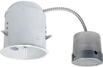 Halo Recessed ML7E26RFK 6 Inch LED Retrofit Enclosure, E26 Screw Base  Connections For Halo