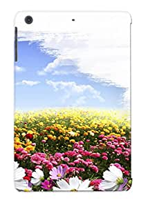 Durable Case For The Ipad Mini/mini 2 - Eco-friendly Retail Packaging(art Poletsvetovskybrushsun Summer Spring Sky Clouds Painting Brush Flowers Fields )