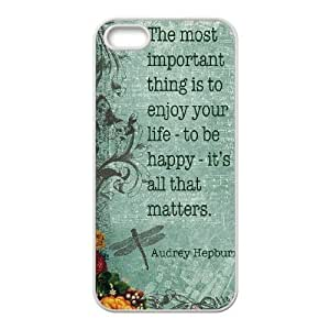 Audrey Hepburn Quote Personalized Cover Case with Hard Shell Protection for Iphone 5,5S Case lxa#904728 by icecream design